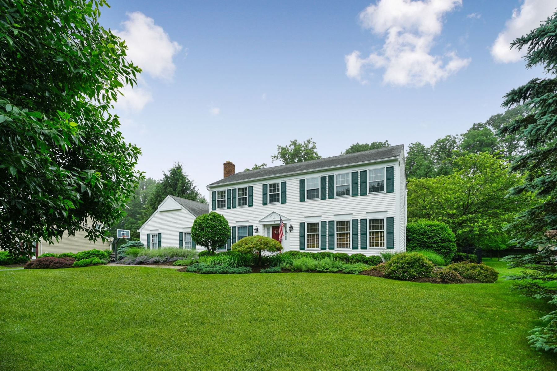 Single Family Homes for Sale at Spacious Colonial 5 Cherry Street, Long Valley, New Jersey 07853 United States