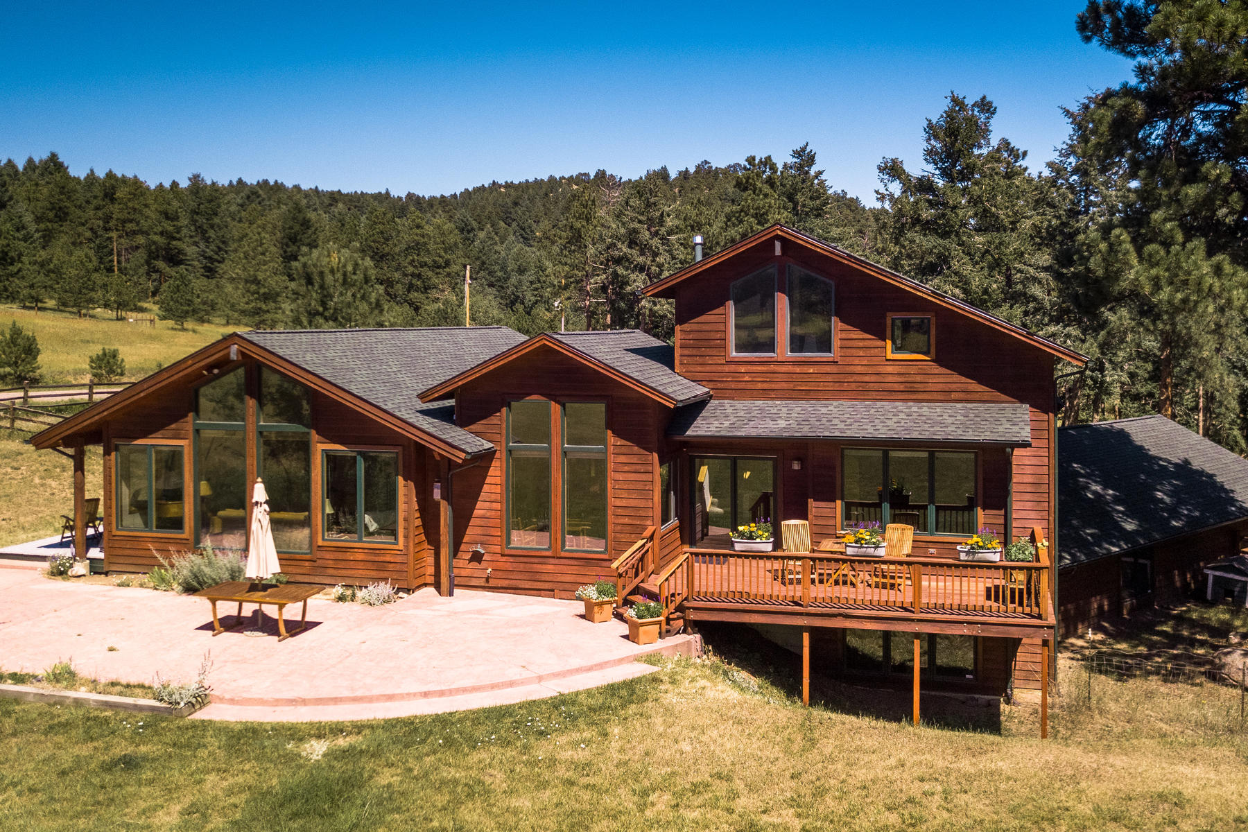 Single Family Home for Active at Privacy & Serenity on 2.1 Picturesque Acres 5092 Snowberry Lane Evergreen, Colorado 80439 United States