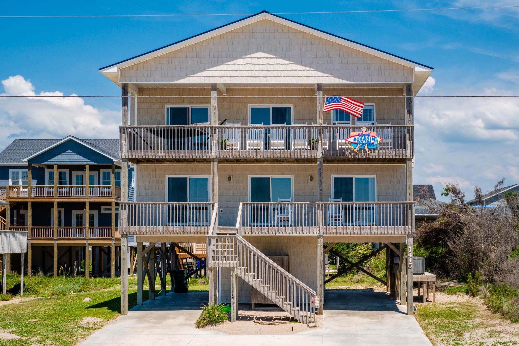 Single Family Homes for Active at Stunning Second Row Beach House 1415 N Shore Drive Surf City, North Carolina 28445 United States