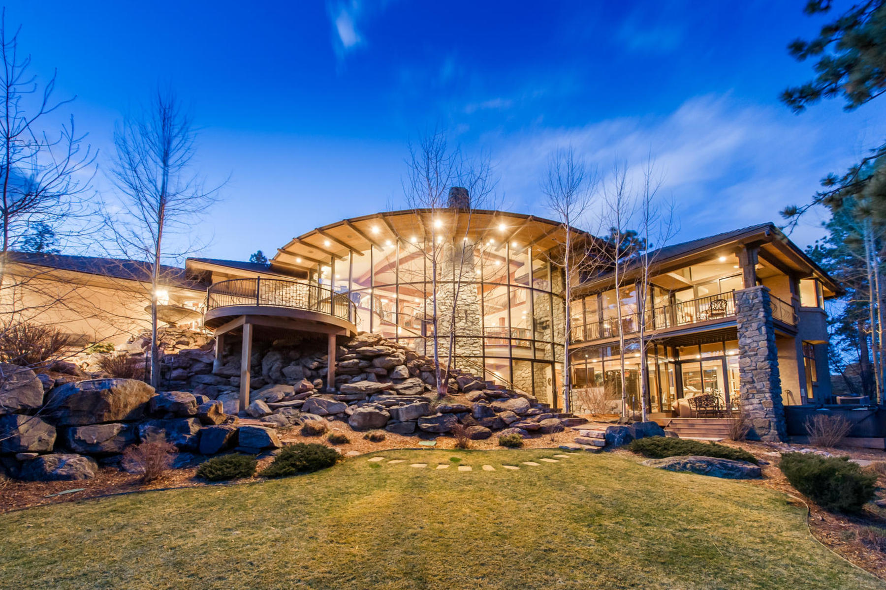 Single Family Home for Active at Dramatic and Elegant 34700 Fox Ridge Road Evergreen, Colorado 80439 United States