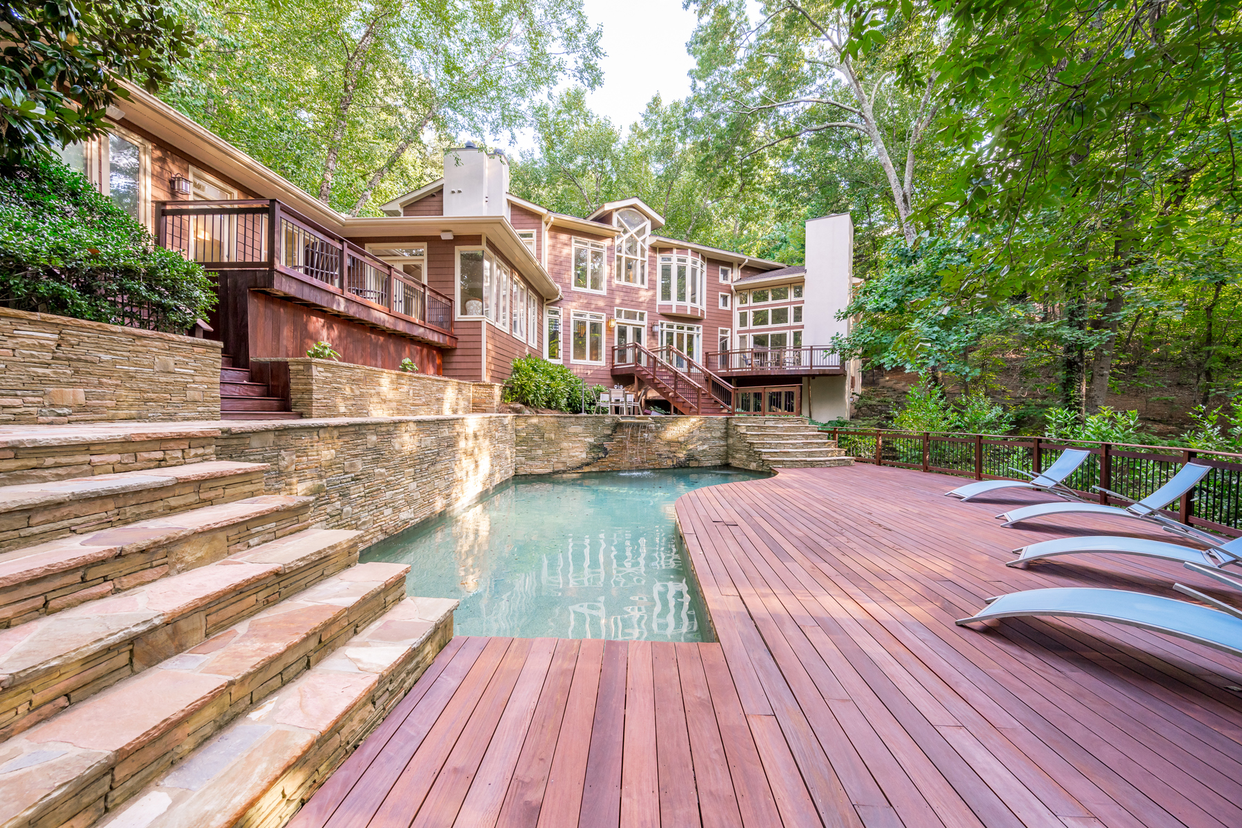 Property for Sale at Frank Lloyd Wright Inspired Home on 2+/- Picturesque Acres 4767 Riverview Road, Atlanta, Georgia 30327 United States