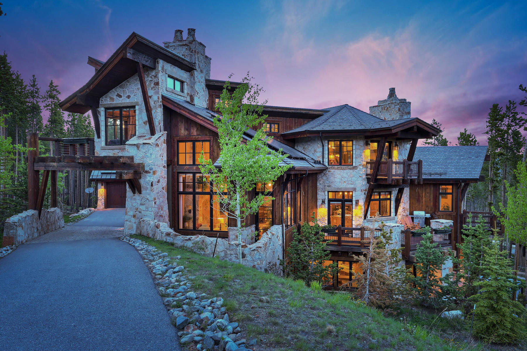 Single Family Homes for Sale at European Inspired Masterpiece 238 Timber Trail Rd Breckenridge, Colorado 80424 United States