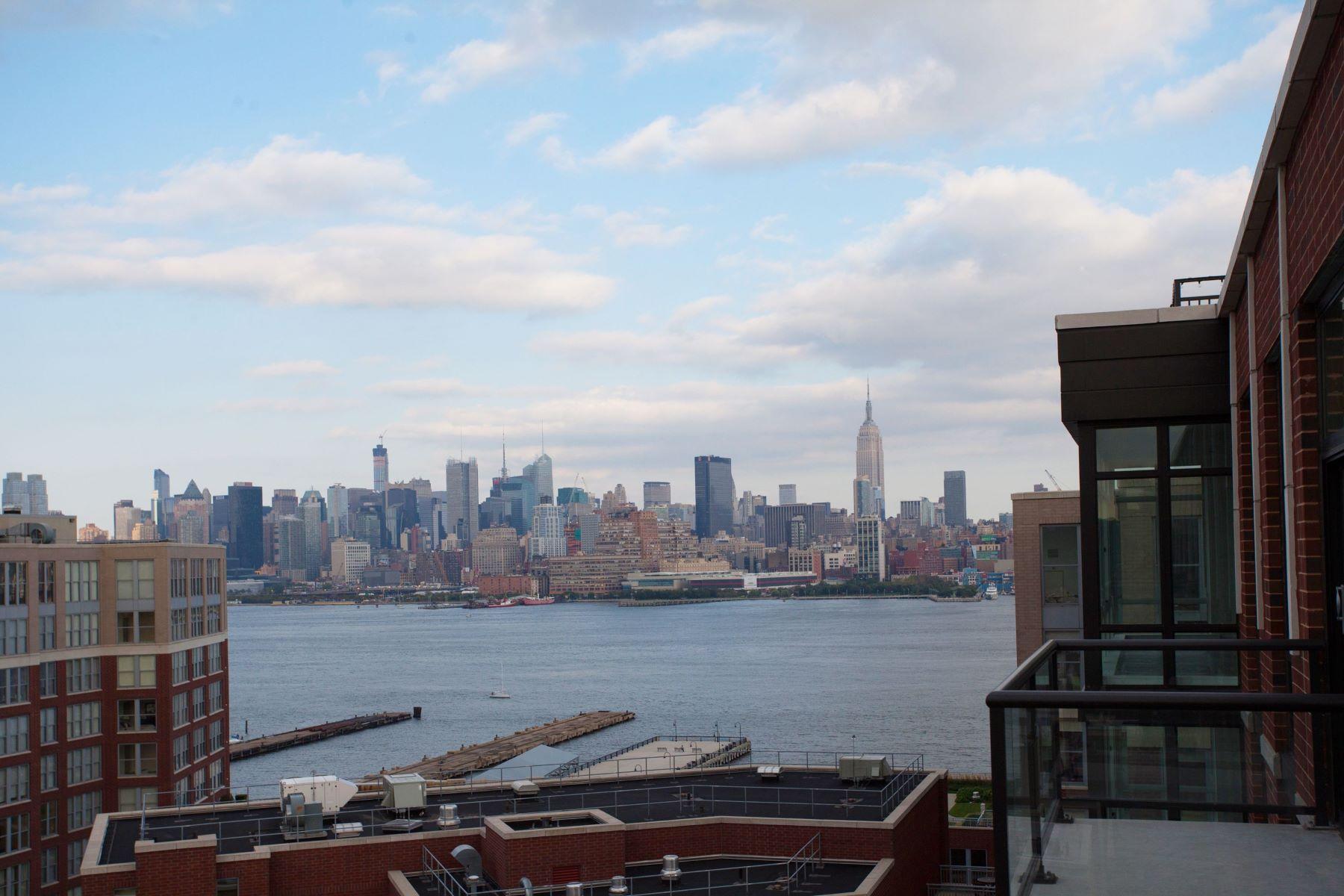 Кондоминиум для того Аренда на Maxwell Place PENTHOUSE! 1100 Maxwell Lane #1206 Hoboken, Нью-Джерси 07030 Соединенные Штаты