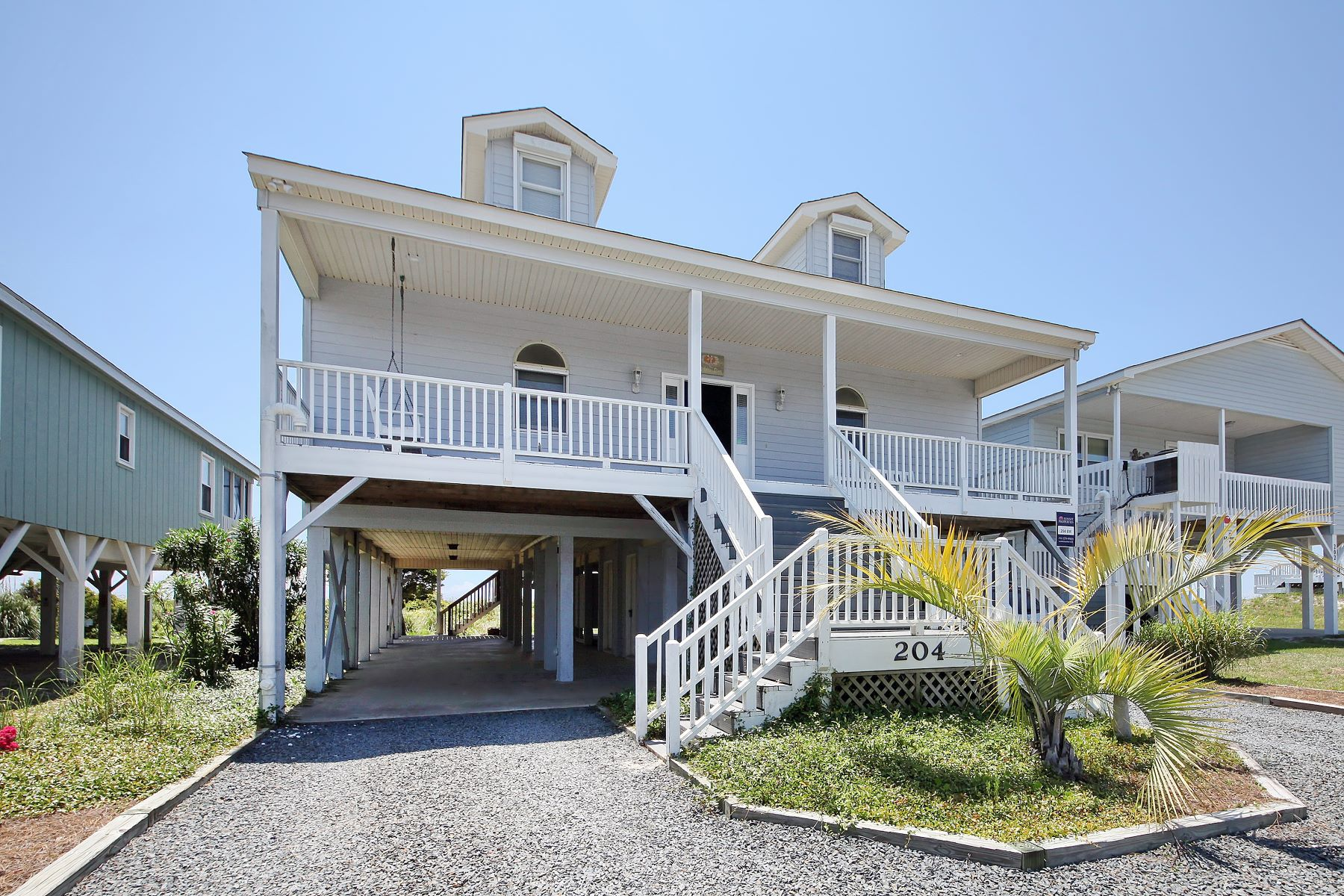 Single Family Homes for Active at Spacious Oceanfront Retreat 204 E Main Street Sunset Beach, North Carolina 28468 United States