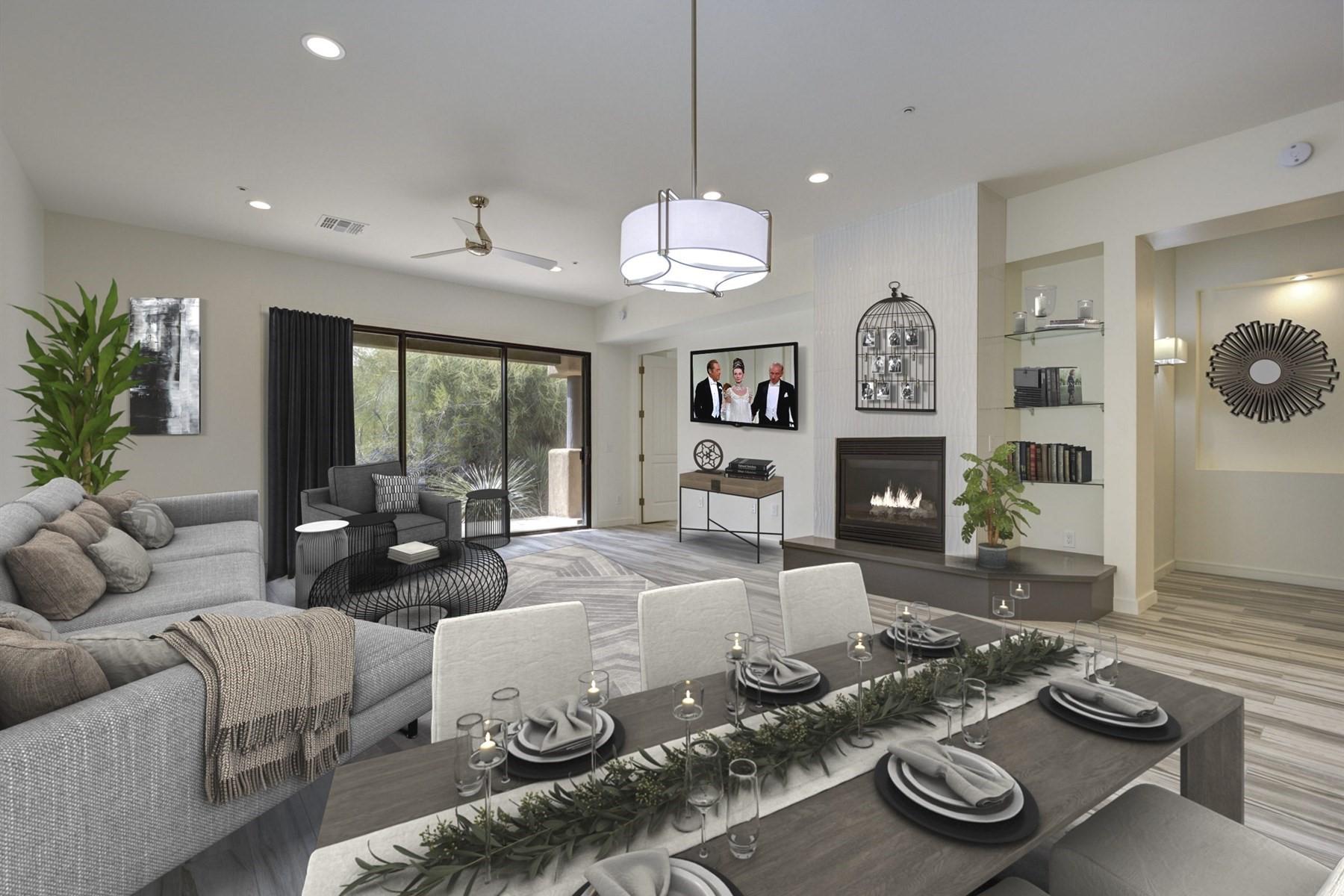 Таунхаус для того Продажа на Lovely Townhome in Troon North 28440 N 101st Way, Scottsdale, Аризона, 85262 Соединенные Штаты