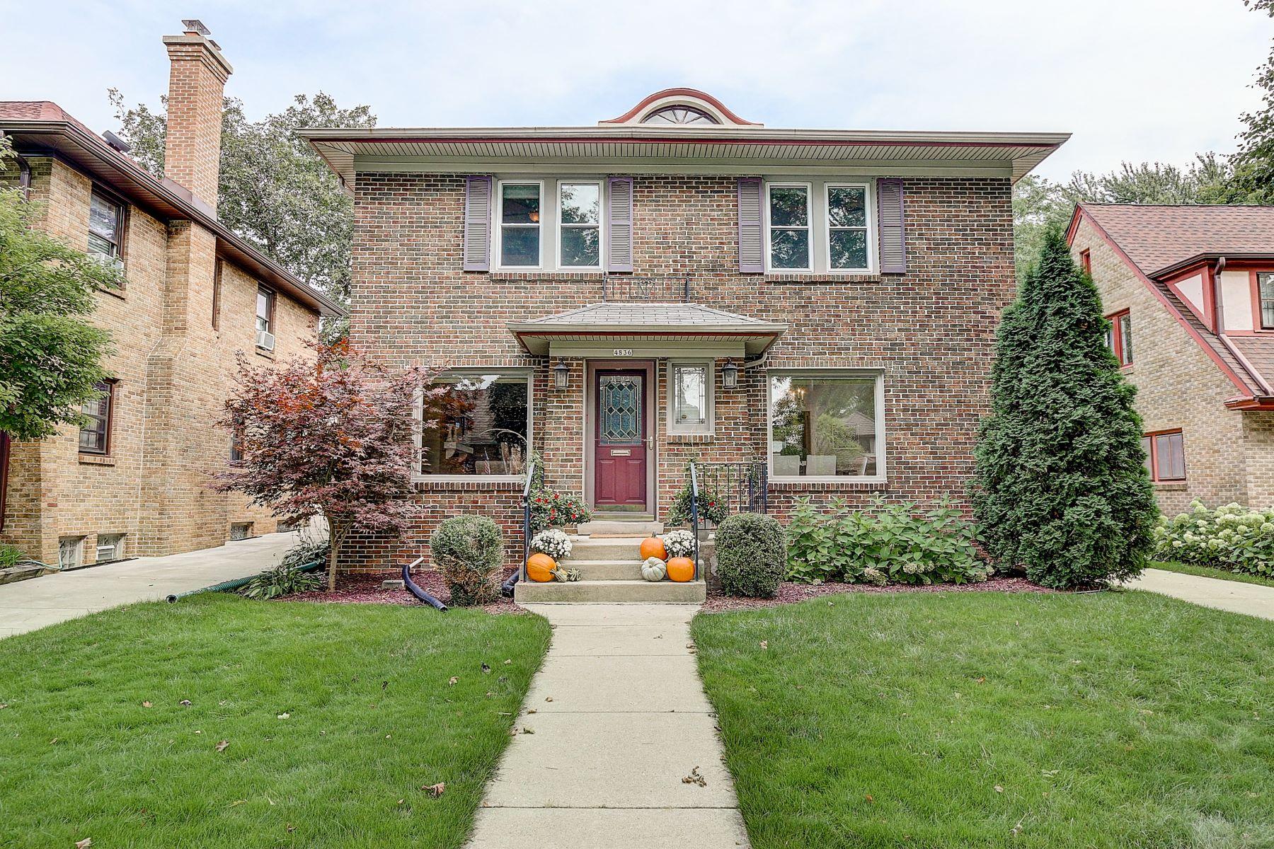 Single Family Homes для того Продажа на 4836 N Woodburn St 4836 N. Woodburn St., Milwaukee, Висконсин 53217 Соединенные Штаты