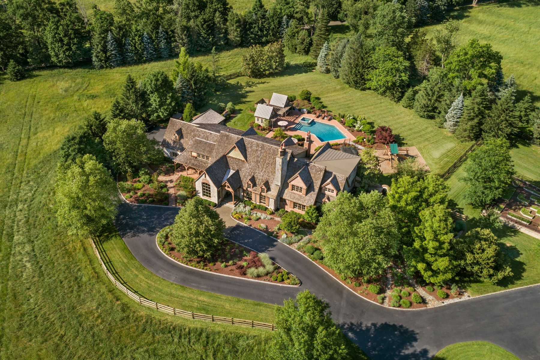 Single Family Home for Sale at Far Hills Country Estate 100 Lake Road, Far Hills, New Jersey 07931 United States