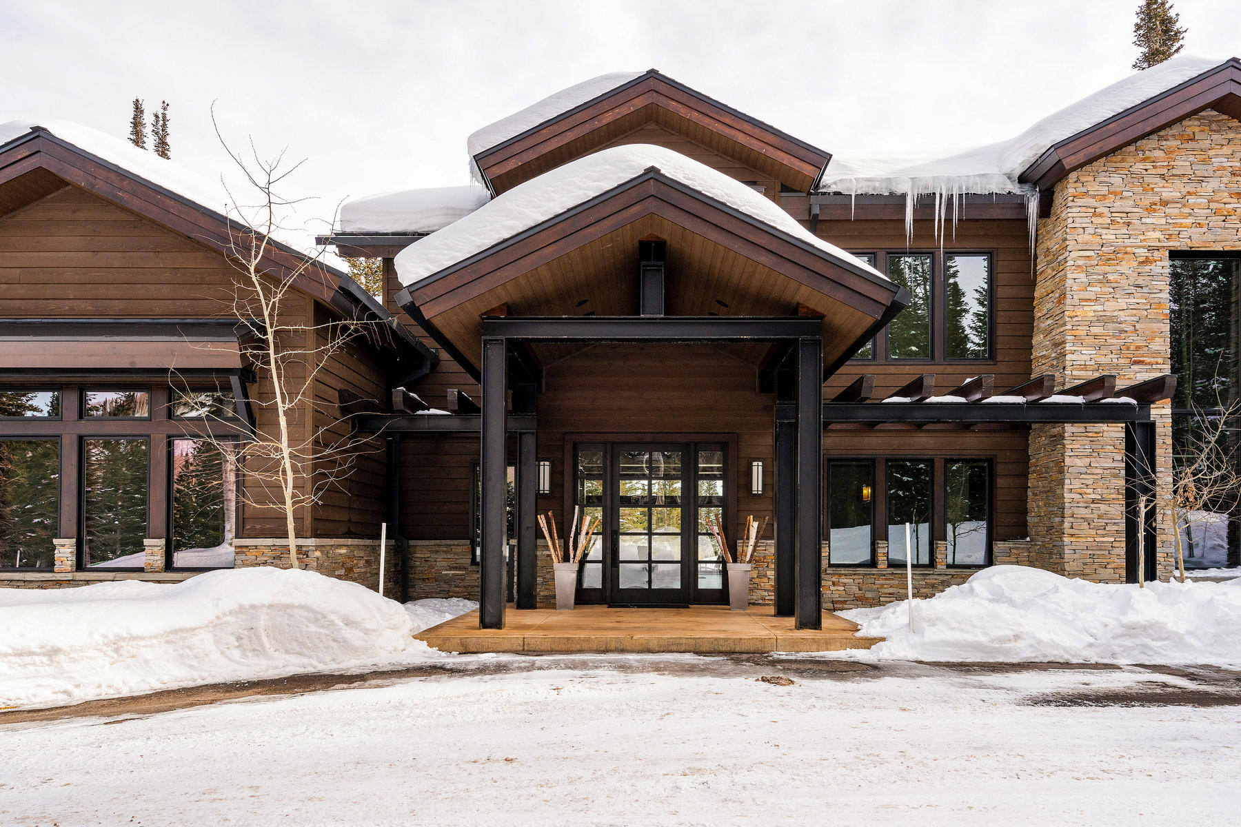 Single Family Homes por un Venta en Stunning, Private, Mountain Contemporary Home in The Colony 209 White Pine Canyon Rd Park City, Utah 84060 Estados Unidos