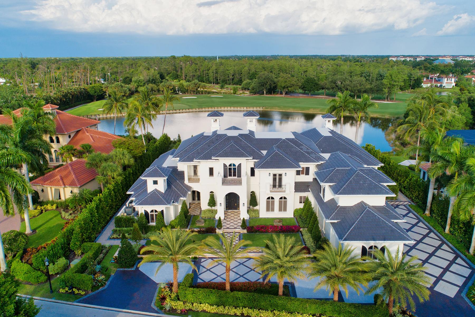 Single Family Homes por un Venta en GREY OAKS - Estuary at Grey Oaks 1420 Nighthawk Point Nápoles, Florida 34105 Estados Unidos