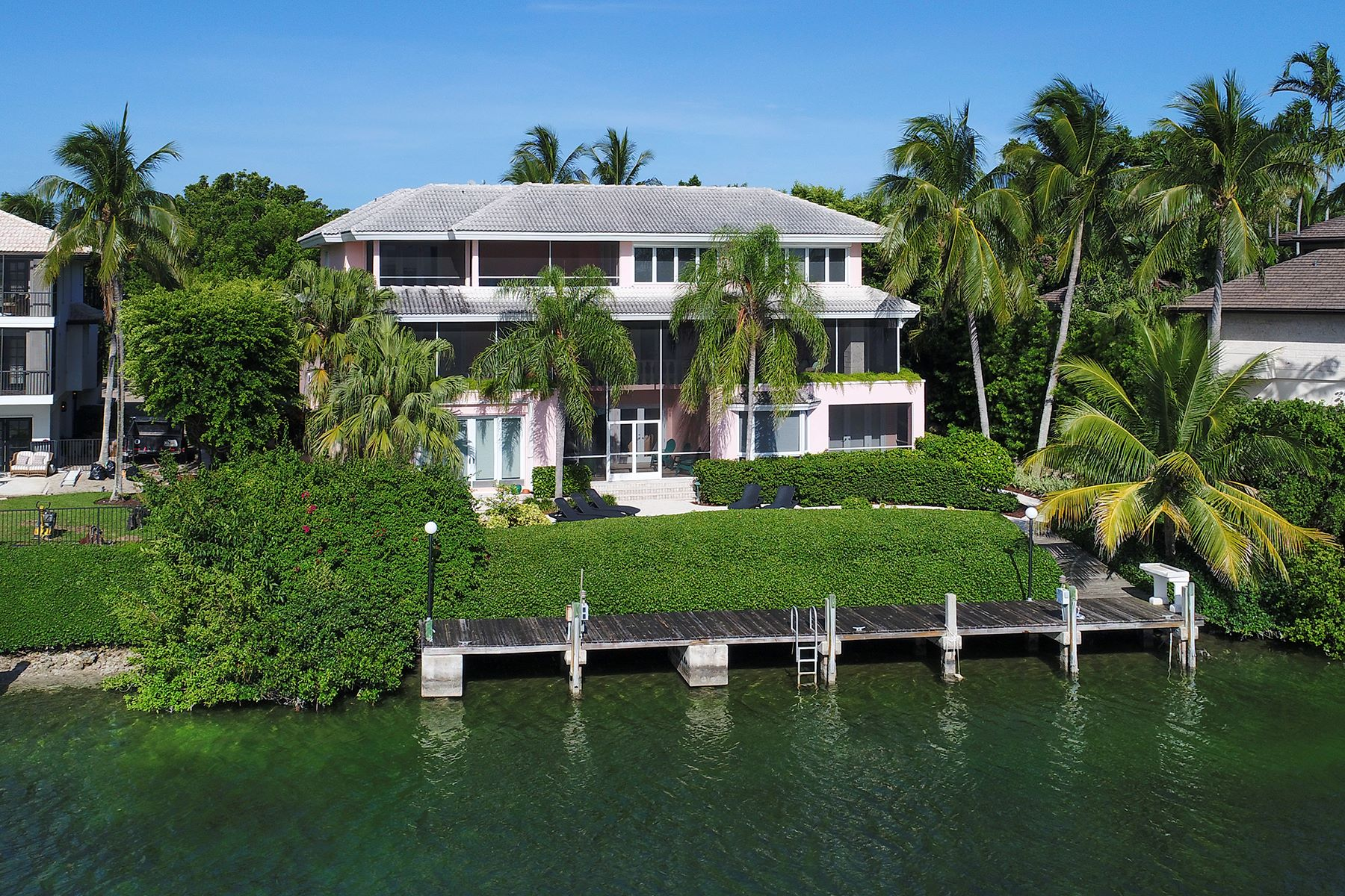 Single Family Home for Sale at Charming Waterfront Home at Ocean Reef Club 30 Cardinal Lane Key Largo, Florida 33037 United States