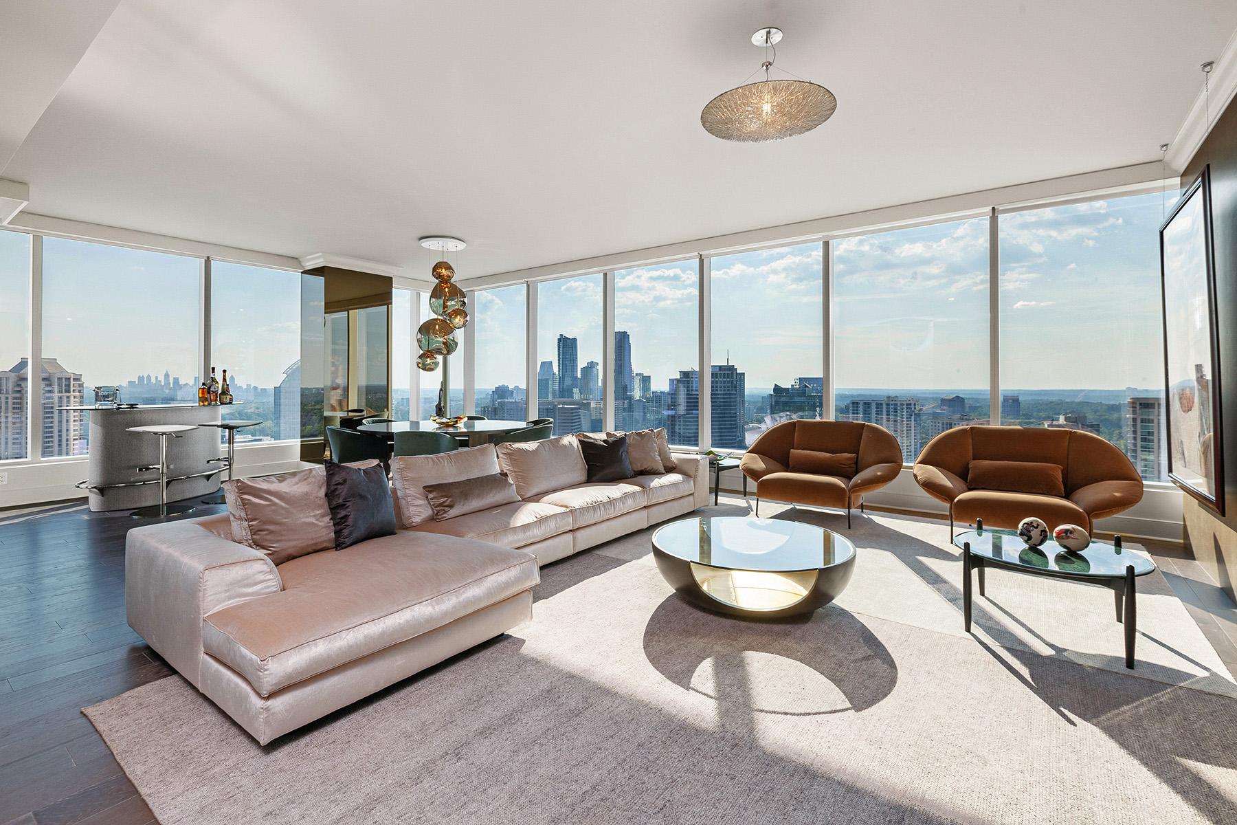 Condominiums для того Продажа на Stunning Ritz-Carlton Residences Buckhead Condo 3630 Peachtree Road NE No. 2103, Atlanta, Джорджия 30326 Соединенные Штаты