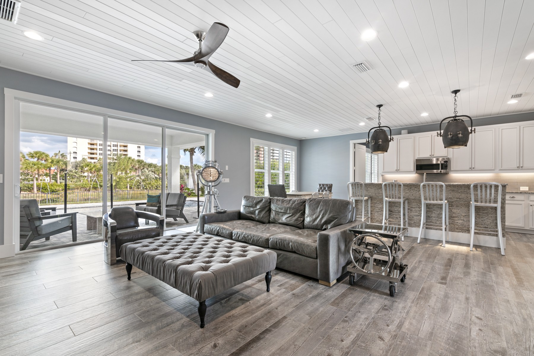 Single Family Homes for Sale at Luxurious Lakefront Home 3918 Duneside Drive Hutchinson Island, Florida 34949 United States