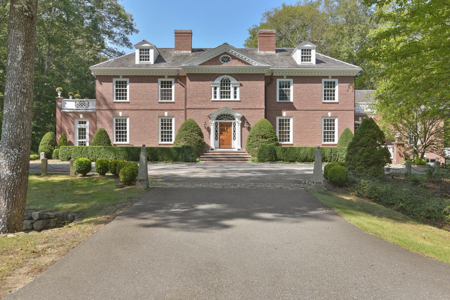 Single Family Homes για την Πώληση στο Impressive Custom Built Georgian Style Brick Residence 25 Smith Street, Dover, Μασαχουσετη 02030 Ηνωμένες Πολιτείες
