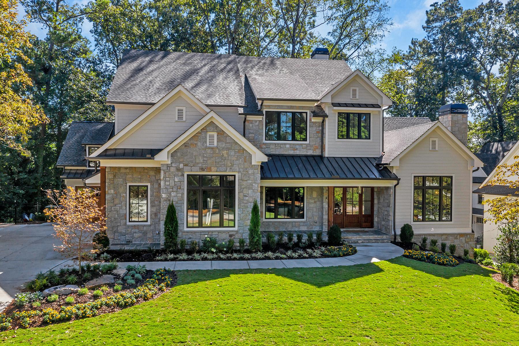 Single Family Homes для того Продажа на Beautiful New Construction In The Heart Of Chastain Park 220 Lake Forrest Lane NE, Atlanta, Джорджия 30342 Соединенные Штаты