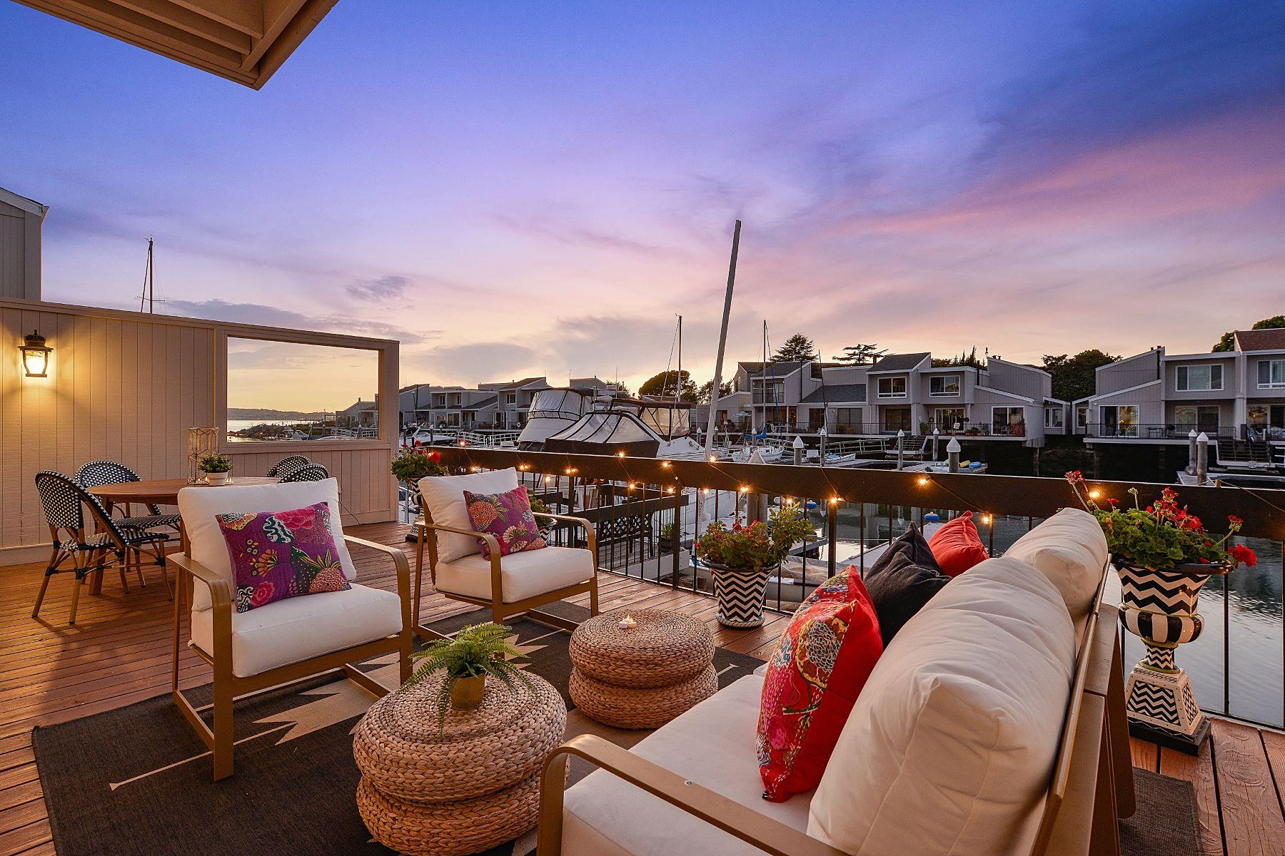 Single Family Homes for Sale at Elegant Alameda Home With Boat Slip 1229 Ballena Boulevard Alameda, California 94501 United States