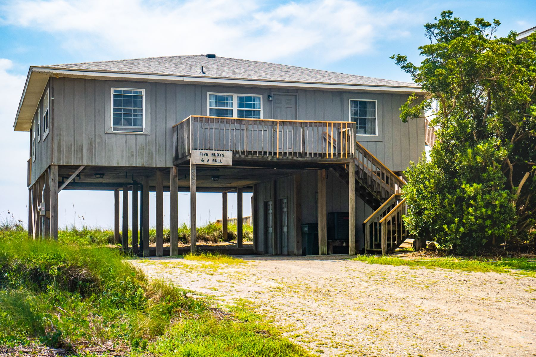 Single Family Homes for Sale at Vintage Oceanfront Cottage 603 N. Anderson Blvd Topsail Beach, North Carolina 28445 United States