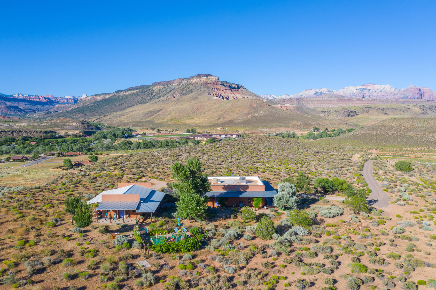 Single Family Homes for Sale at Hacienda-Style Home On Private 35 Ac Mesa 265 Red Hill Lane, Virgin, Utah 84779 United States