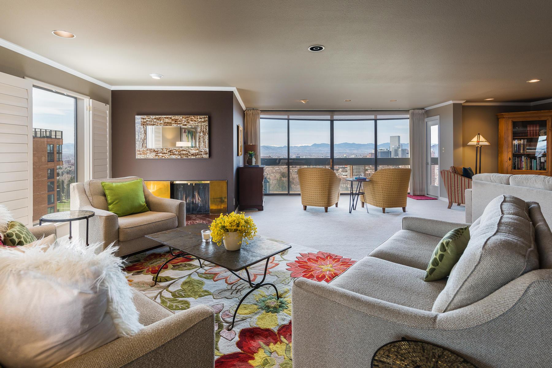 Condominium for Active at Open, Spacious & Private 2000 East 12th Avenue #21B Denver, Colorado 80206 United States