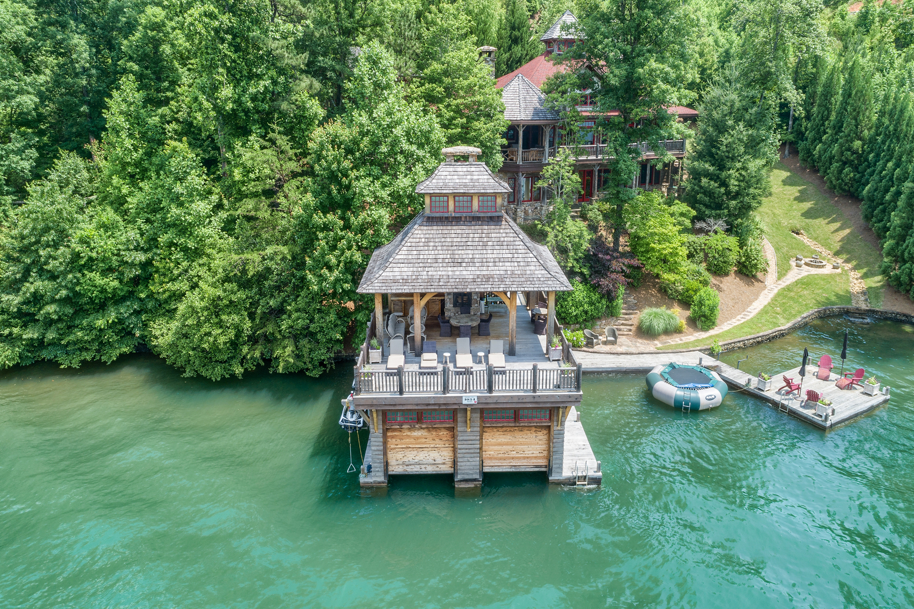Single Family Home for Sale at Adirondack Camp On Lake Burton 1034 Moccasin Creek Road Clarkesville, Georgia 30523 United States