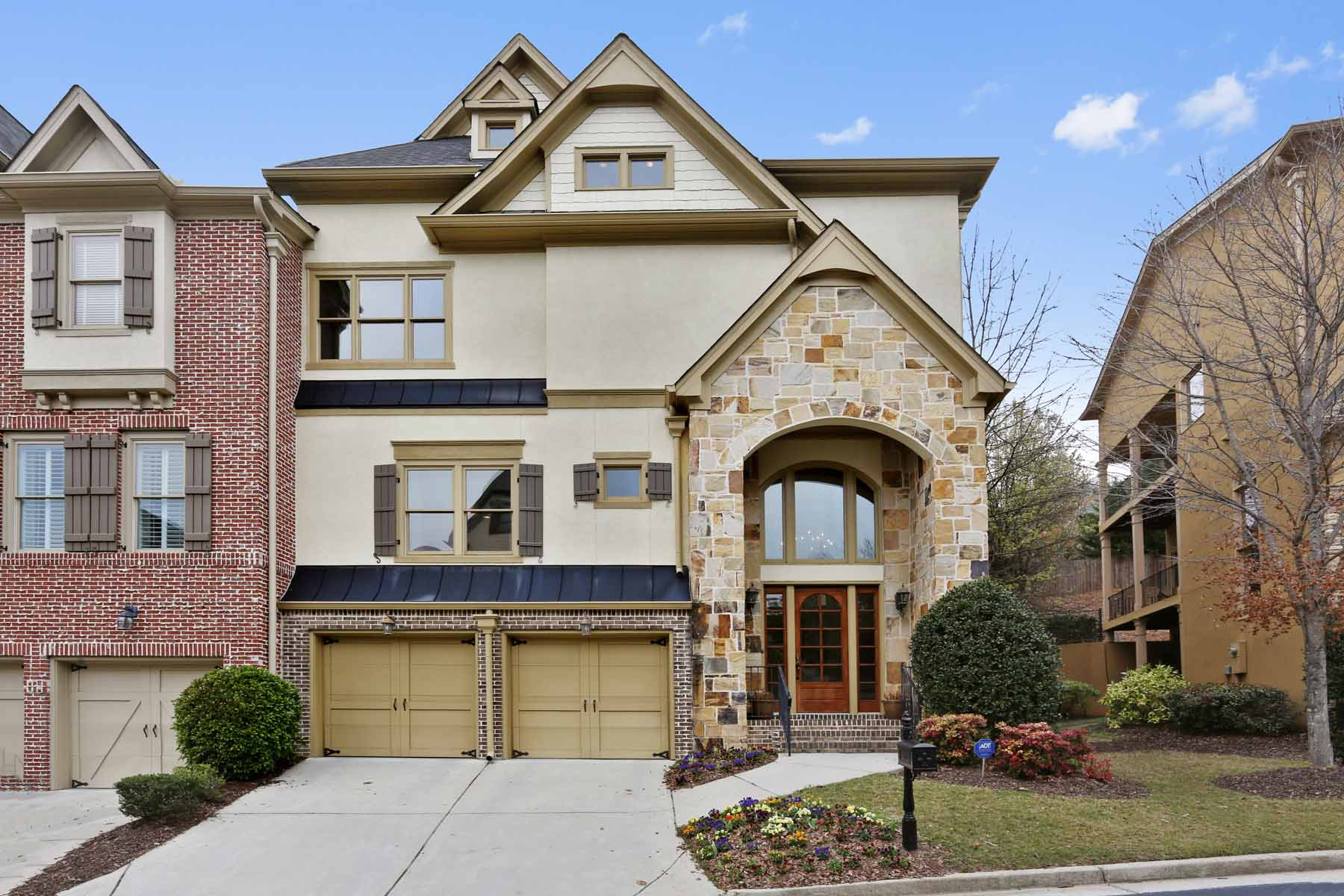 Townhouse for Sale at A Sophisticated Buckhead Brookhaven Townhome 1960 Saxon Valley Circle Atlanta, Georgia, 30319 United States