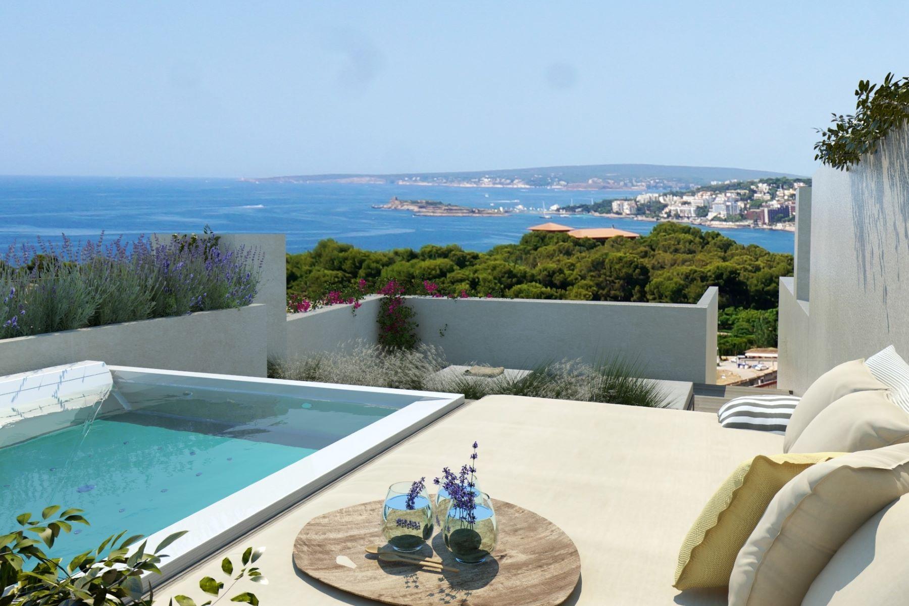 独户住宅 为 销售 在 New high-end penhouse with sea views in Palma 巴利阿里群岛其他地方, 巴利阿里群岛, 西班牙
