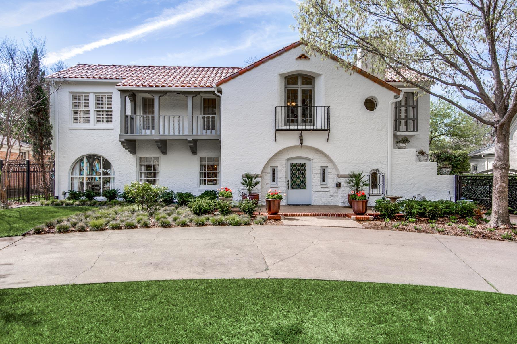 단독 가정 주택 용 매매 에 Greenway Parks Spanish Colonial Revival 5422 Montrose Drive, Dallas, 텍사스, 75209 미국
