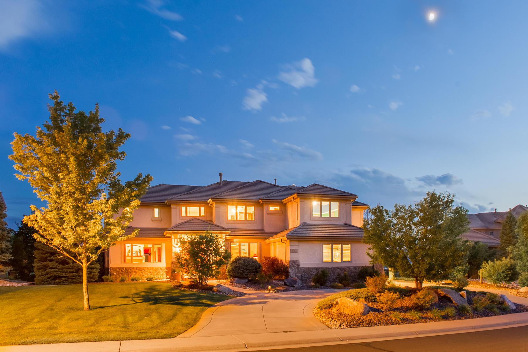 Moradia para Venda às Fall in love with this mountain contemporary custom home 714 Chamberlain Way Highlands Ranch, Colorado, 80126 Estados Unidos