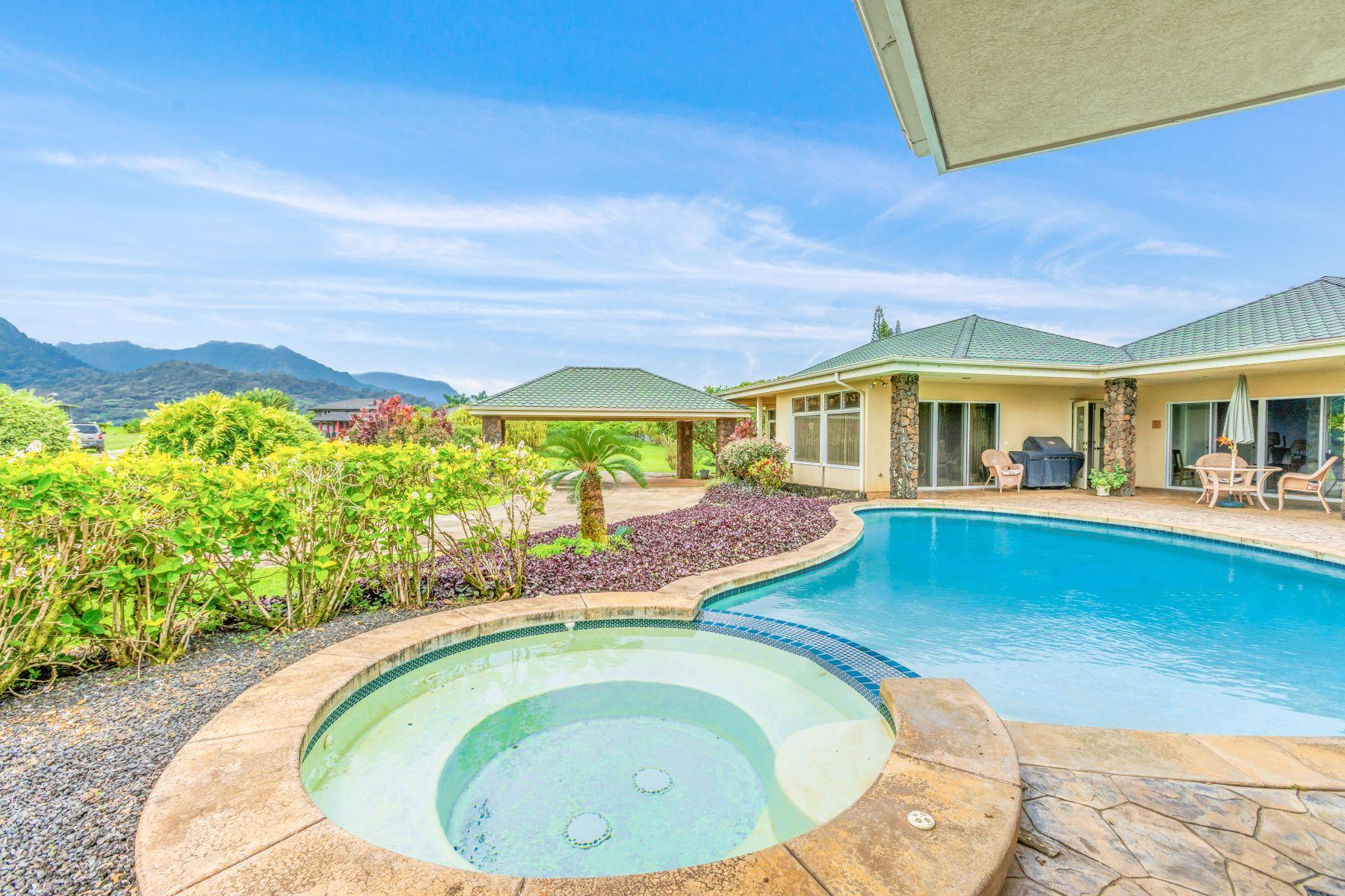 獨棟家庭住宅 為 出售 在 Kiohana Mauka 4885 Kapaka Street #C Princeville, 夏威夷 96722 美國