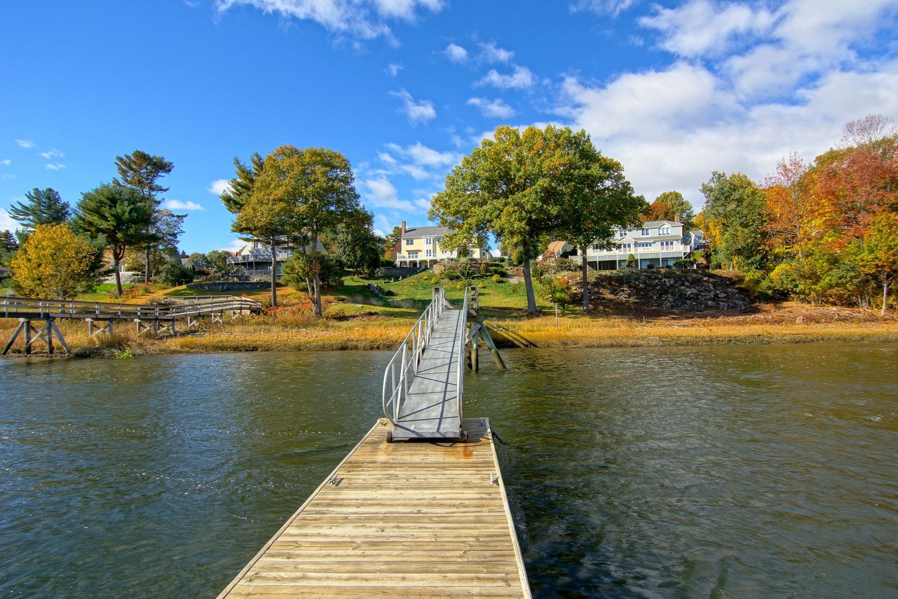sales property at Direct Waterfront Home with Private Dock at Landing Way