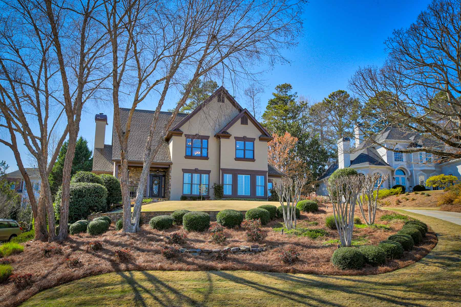 Single Family Home for Sale at Elegant European Traditional in St. Marlo 7635 Wentworth Drive Duluth, Georgia, 30097 United States