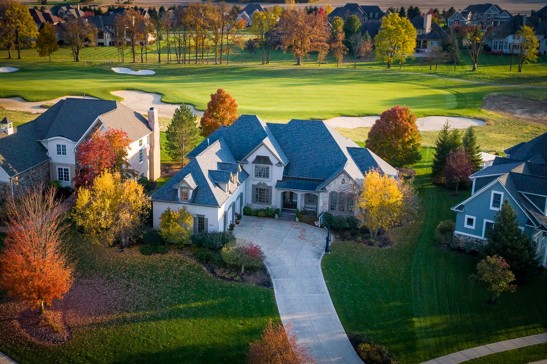 single family homes for Active at Stunning Sagamore Golf Course home 11391 Golden Bear Circle Noblesville, Indiana 46060 United States