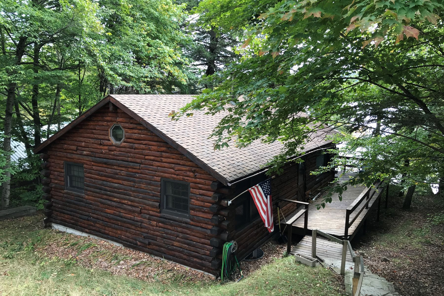 Single Family Homes for Active at 4 season lakeside Camp 8955 State Route 30 Blue Mountain Lake, New York 12812 United States