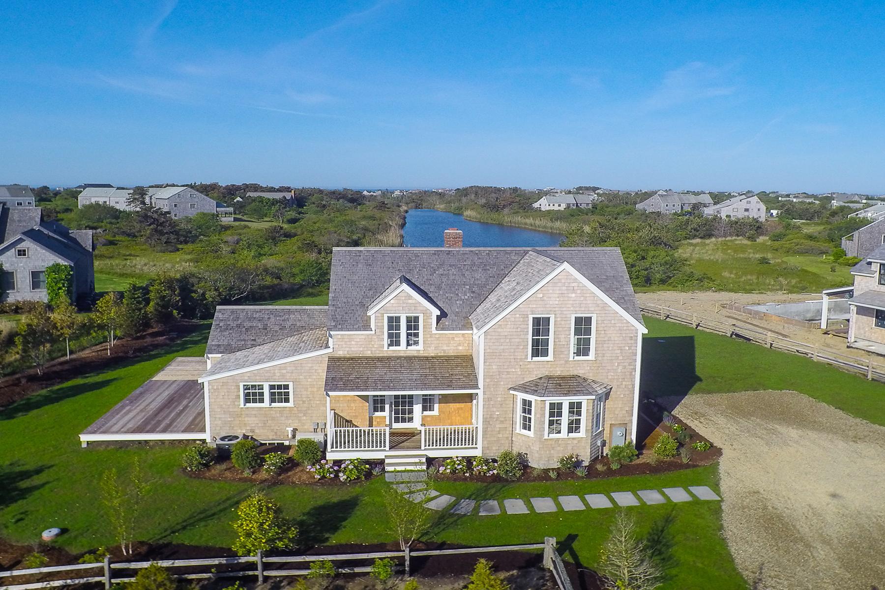 Moradia para Venda às Spectacular Views and the Sound of the Ocean 4 Goose Cove Way Nantucket, Massachusetts, 02554 Estados Unidos