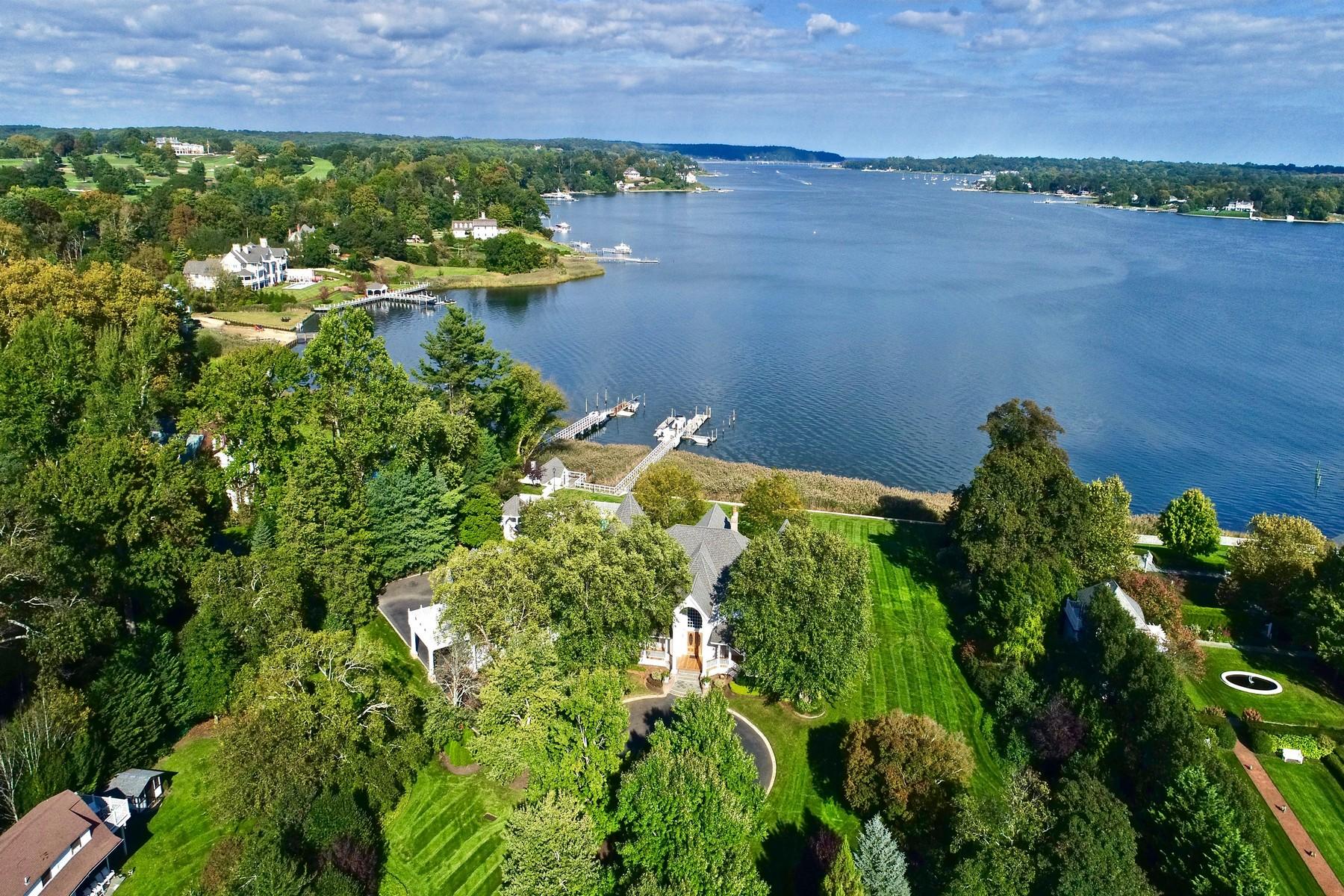 단독 가정 주택 용 매매 에 Stately Victorian Waterfront Estate 23 Blossom Cove Rd. Middletown, 뉴저지 07748 미국