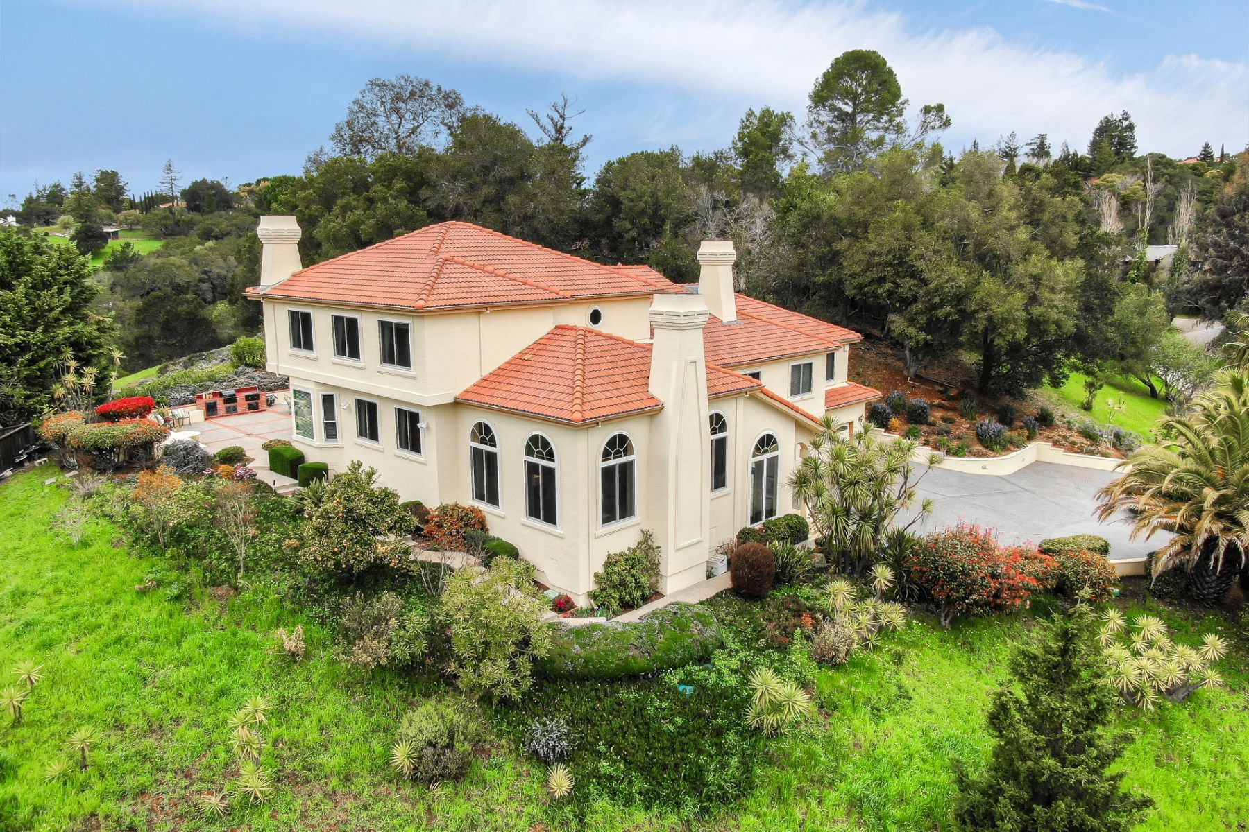 Single Family Home for Active at Spectacular Mediterranean Villa 643 W Glen Way Woodside, California 94062 United States