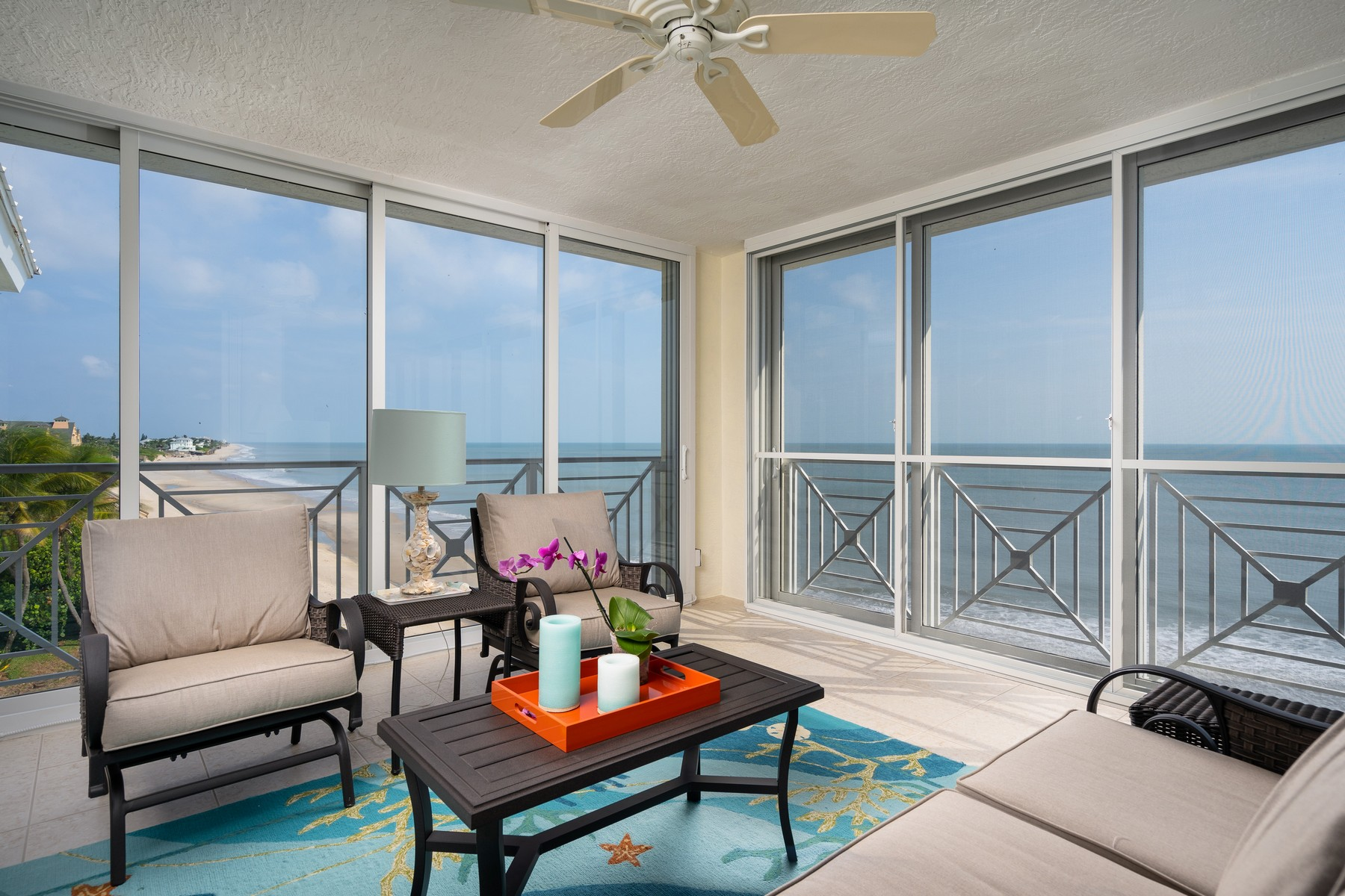 Condominiums for Sale at Stunning Oceanfront Four Bedroom Top Floor Condo 8890 Sea Oaks Way #105 Vero Beach, Florida 32963 United States