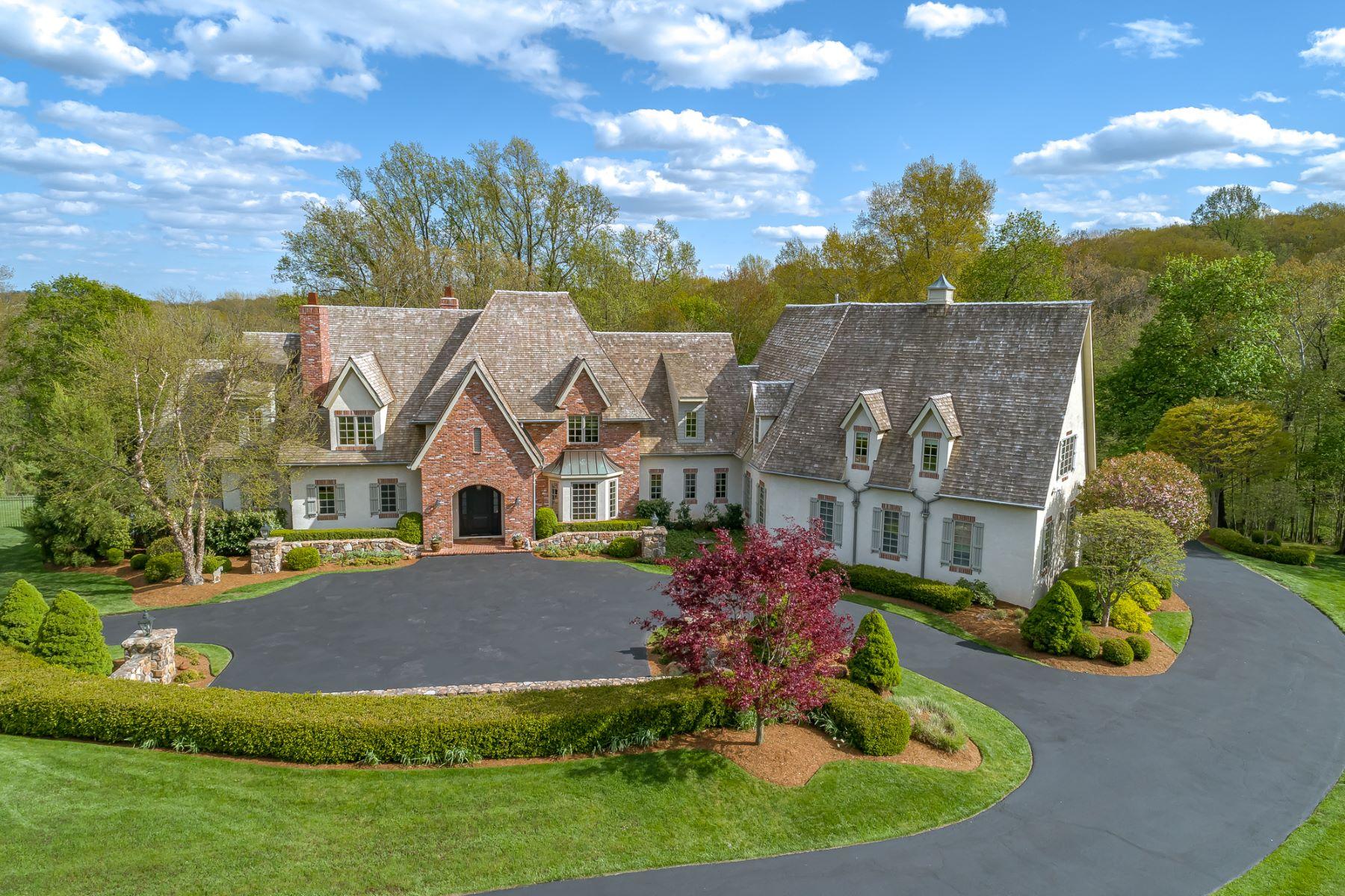 Single Family Homes voor Verkoop op Magnificent Custom Home 4 Crownview Lane, Bernardsville, New Jersey 07924 Verenigde Staten