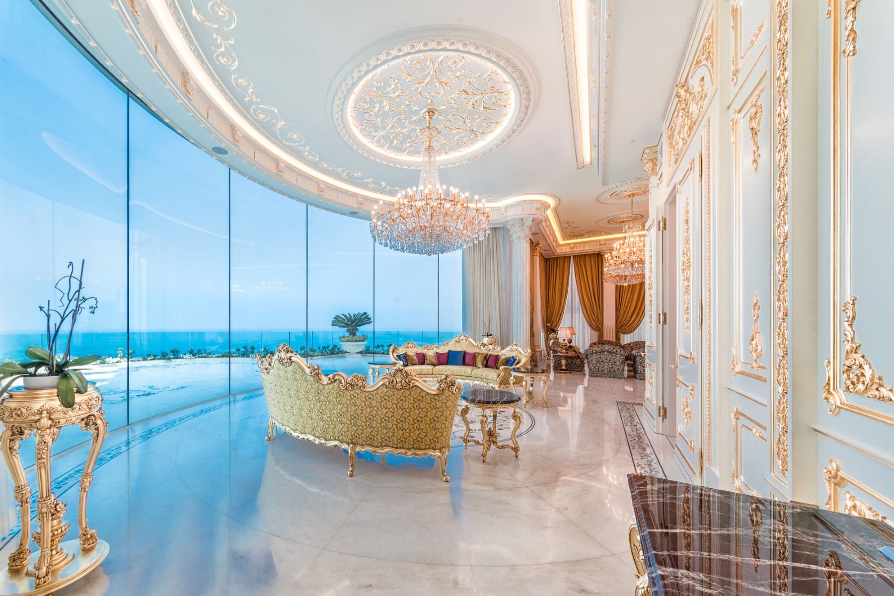 Flat for Sale at Refined Seafront Baroque Style Penthouse Tel Aviv, Israel Israel