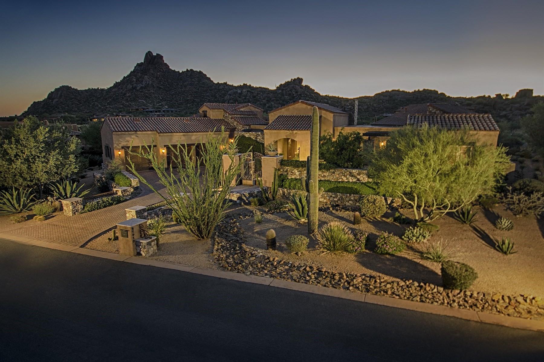 Einfamilienhaus für Verkauf beim Stunning Tuscan design with unobstructed views 27410 N 103rd Street Scottsdale, Arizona, 85262 Vereinigte Staaten