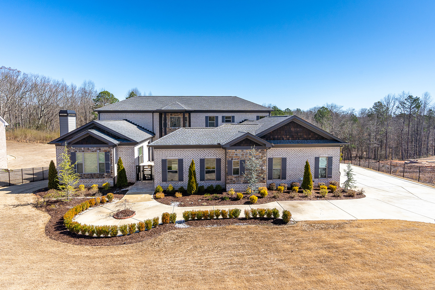 Single Family Homes for Active at Custom Gated Luxury 4429 J M Turk Road Flowery Branch, Georgia 30542 United States