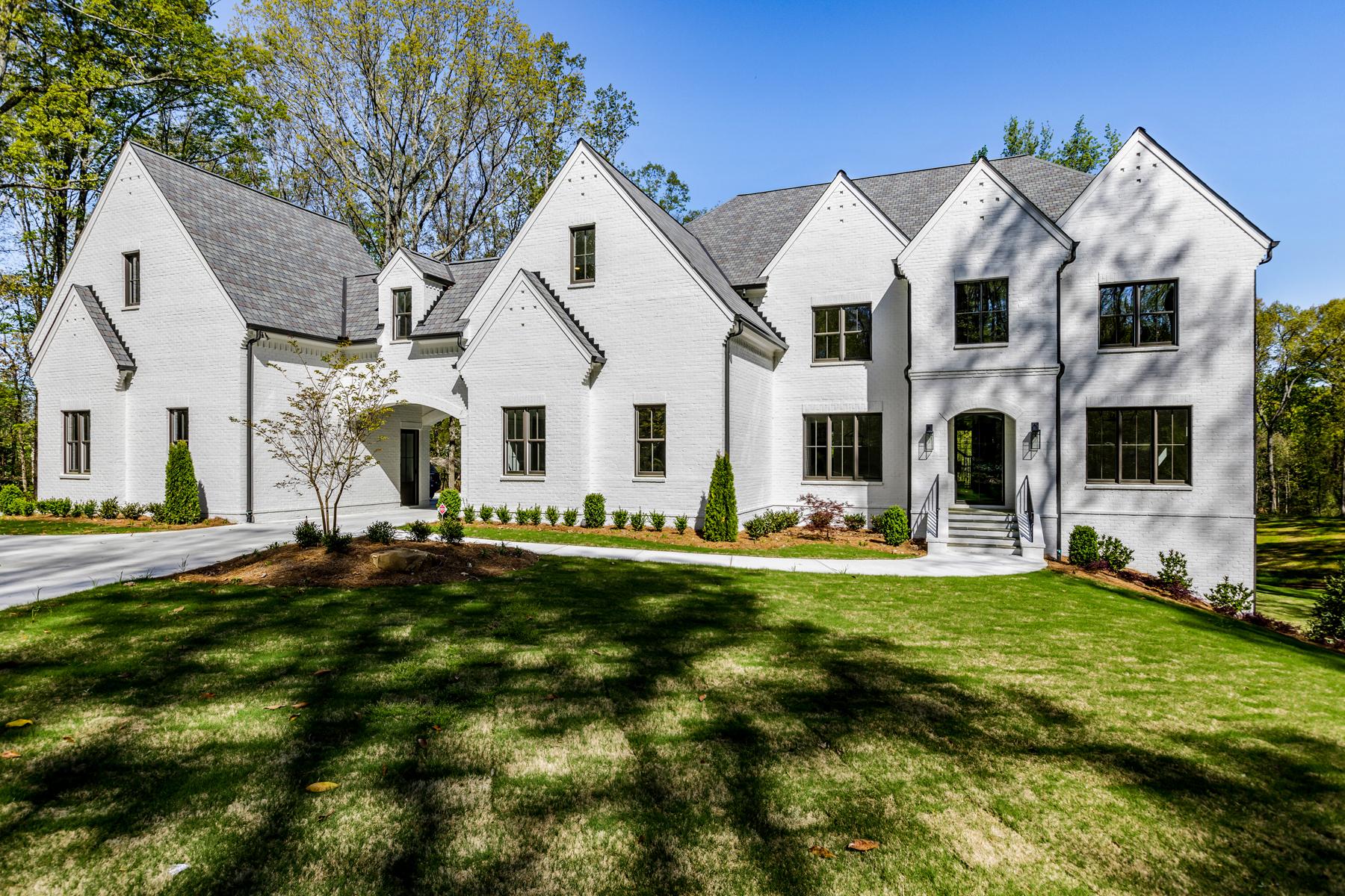 Single Family Homes for Sale at New Sandy Springs Estate 5720 Riverside Drive Atlanta, Georgia 30327 United States