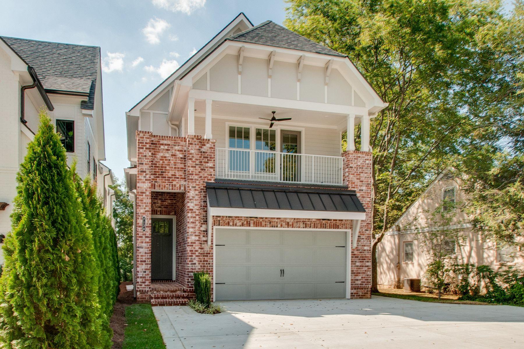 Single Family Homes 为 销售 在 Beautiful Woodmont Park New Construction 713A Cantrell Avenue 那什维尔, 田纳西州 37215 美国