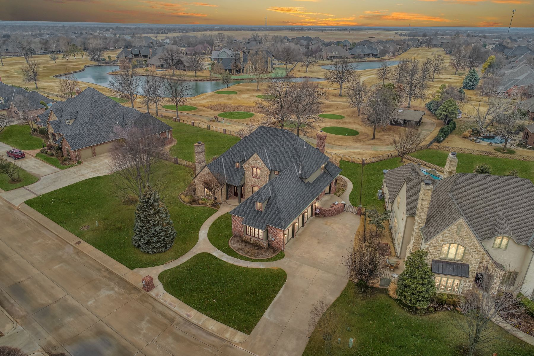 Single Family Homes for Sale at An Embrace of Elegance at Oak Tree 341 Heritage Boulevard Edmond, Oklahoma 73025 United States
