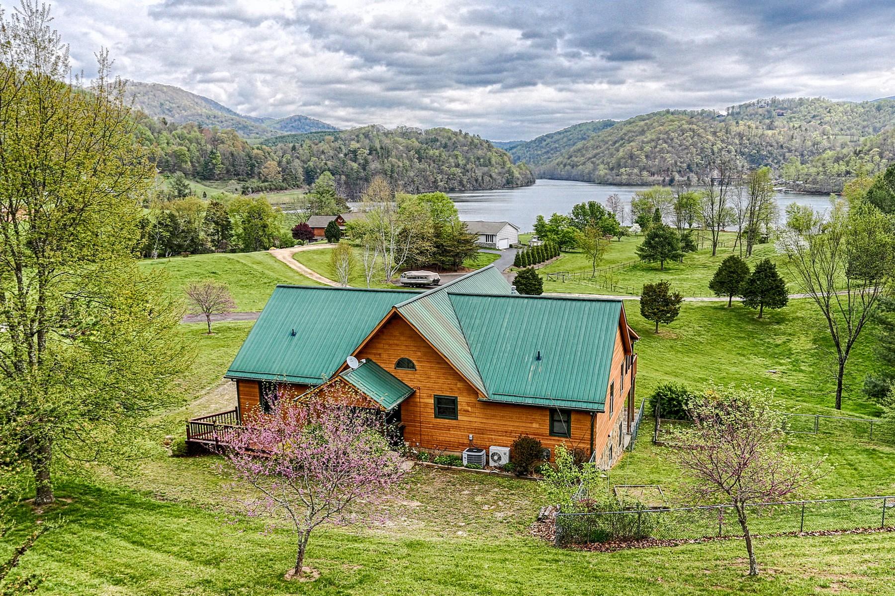 Частный односемейный дом для того Продажа на The Perfect Cabin With Waterfront Access 300 North River Lane Butler, Теннесси 37640 Соединенные Штаты