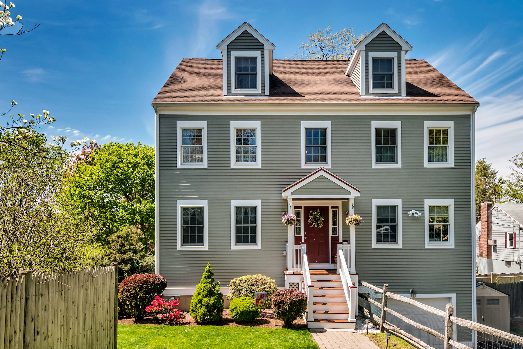 Single Family Home for Sale at Lovely center entrance Colonial 166 Forest Street Winchester, Massachusetts 01890 United States