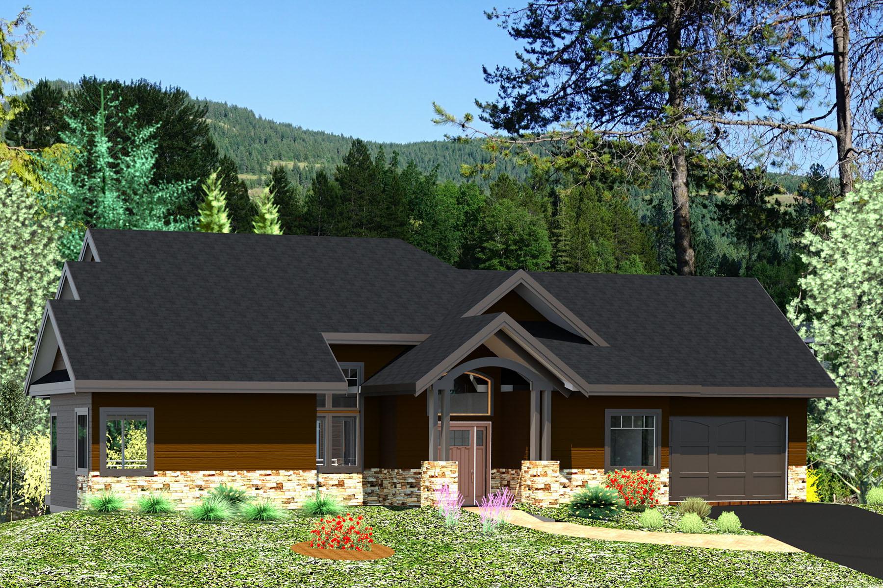 Casa para uma família para Venda às The Lake Retreat 77 Buck Run Sagle, Idaho, 83860 Estados Unidos
