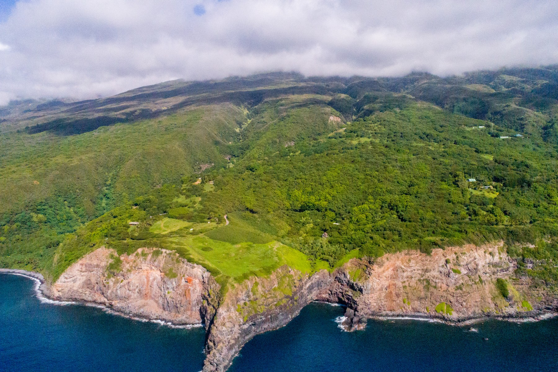 Single Family Homes 용 매매 에 Private 6.9 Acre Oceanfront Sanctuary, East Maui 37760 Piilani Hwy, Hana, 하와이 96713 미국