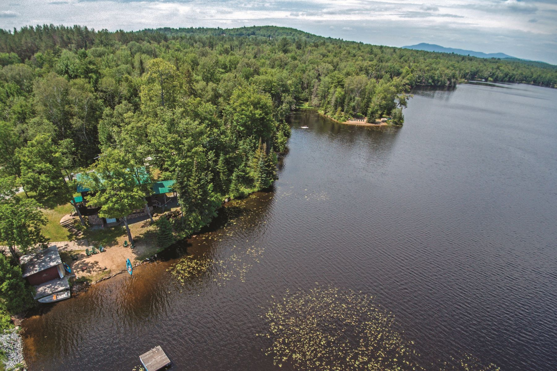 Multi-Family Homes for Active at Stunning Multi Family with 37 acres and 1/2 mile shoreline 337 Big Brook Road Indian Lake, New York 12842 United States