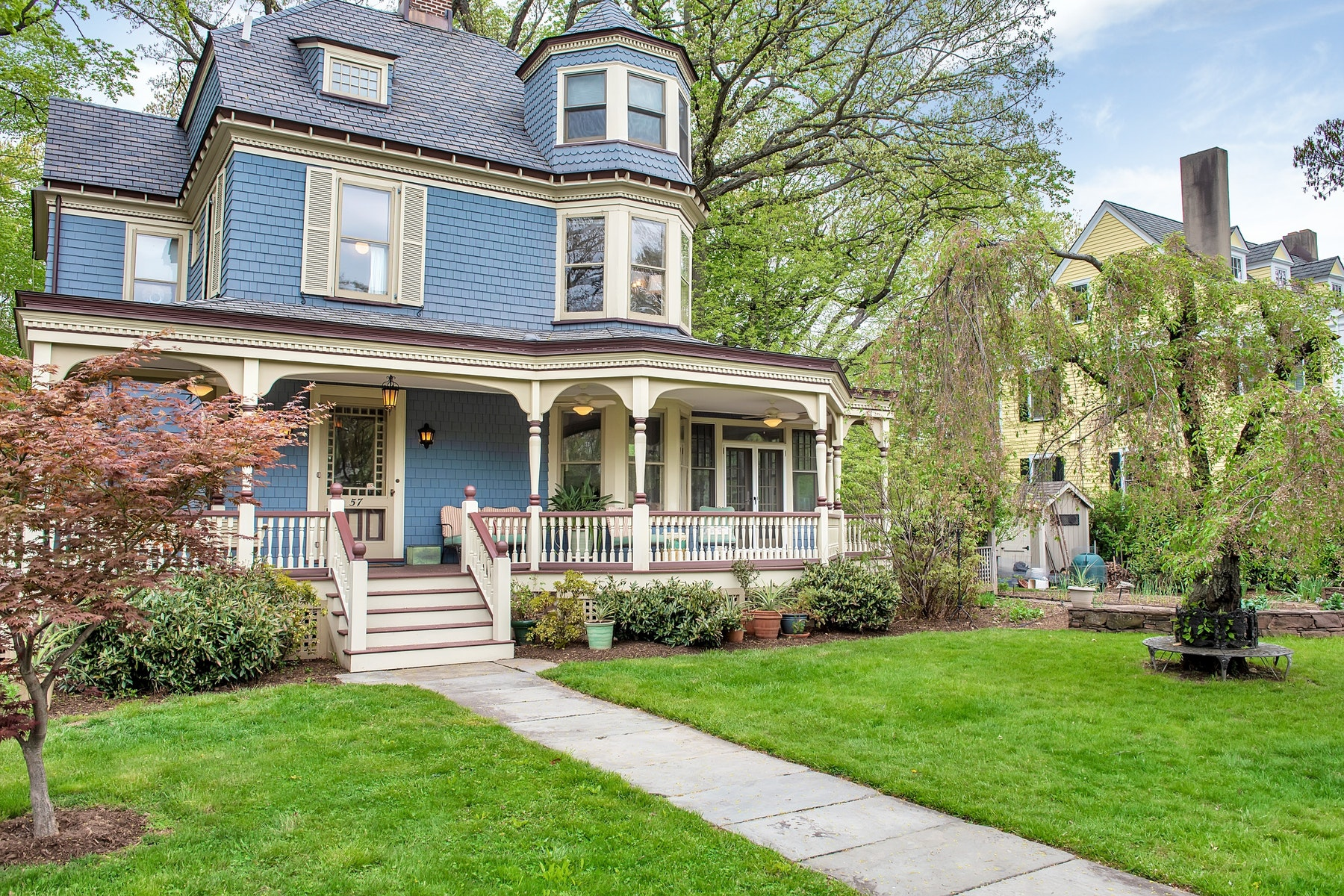 Single Family Home for Sale at Lovely Warm Victorian 57 Woodland Avenue, Glen Ridge, New Jersey 07028 United States