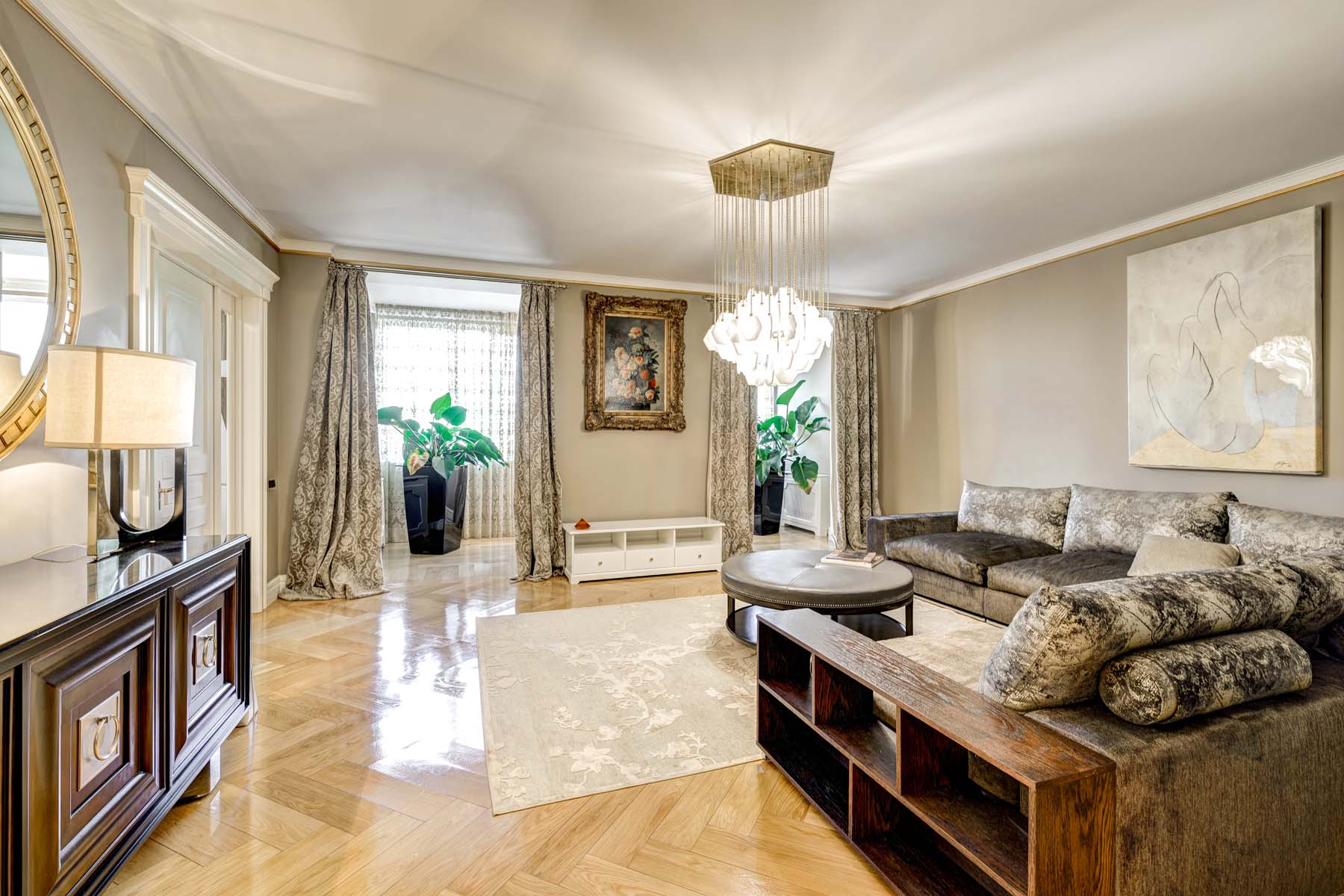 Single Family Homes için Kiralama at The apartment with exclusive repair on Frunze in Camelot Moscow, Moskova Rusya